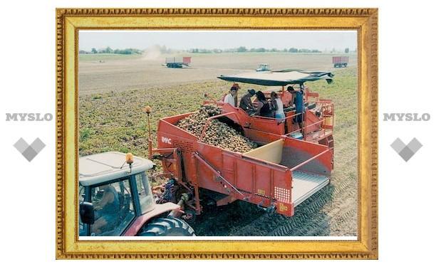 Щекинец попал в картофелеуборочный комбайн