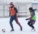 Тренировка «Арсенала»: красно-жёлтые на белом