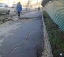 В Туле из-за стройки проваливается тротуар