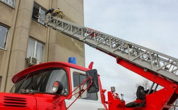 Тульские пожарные ликвидировали условное возгорание в здании суда