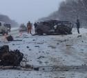 На трассе «Крым» водитель легковушки погиб в ДТП с двумя грузовиками