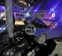 В Туле пьяная угонщица на Audi A4 влетела в столб
