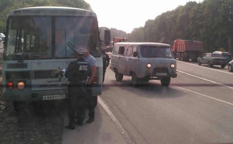 Рейд ГИБДД в Тульской области: четыре автобуса эвакуировали на штрафстоянку