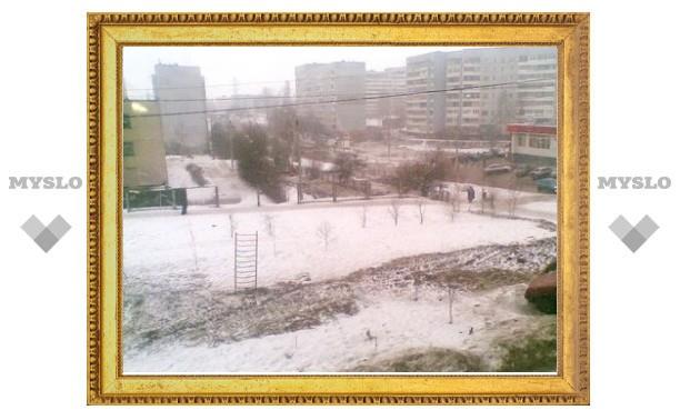 Тулу накрыл зимний град и ливневый снег