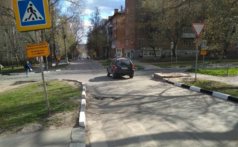 Яму на улице Галкина в Туле устранят в течение двух недель