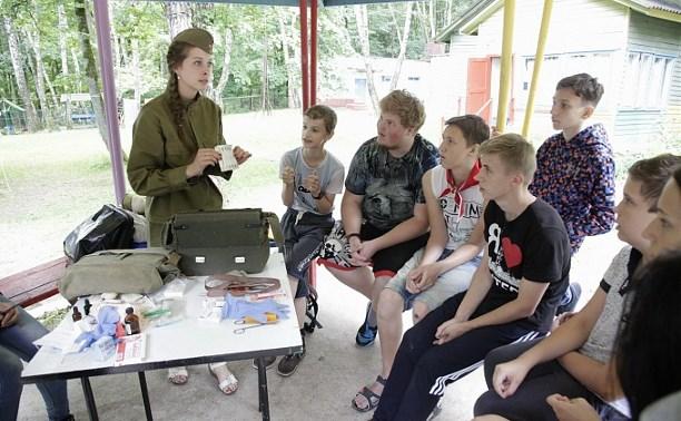 Юнармейцы проводят мастер-классы в оздоровительных лагерях Тульской области