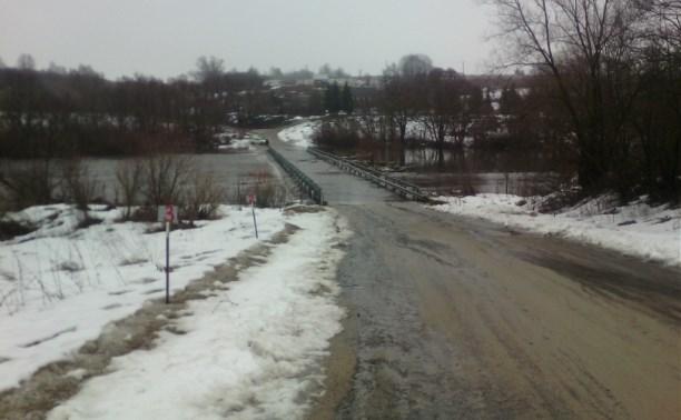 В Тульской области затоплено два низководных моста