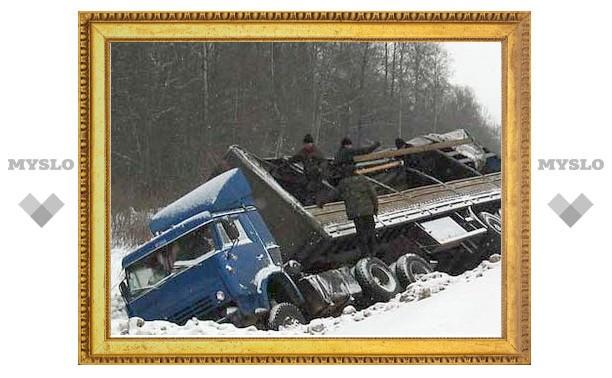 По Тулой столкнулись сразу четыре автомобиля
