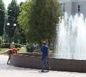 На День ВДВ в Новомосковске отключили фонтан