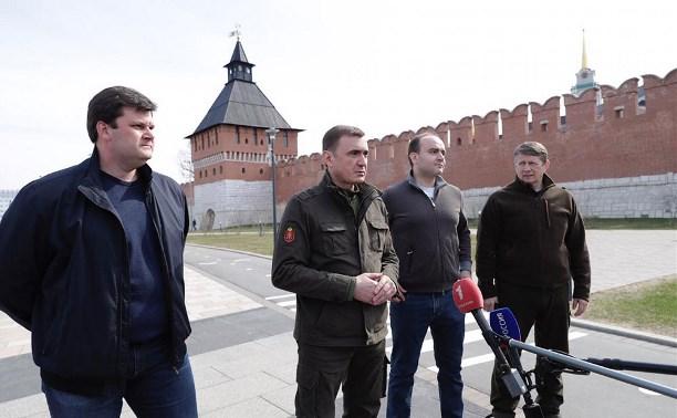 Алексей Дюмин раскритиковал работу ЧОПа на Казанской набережной
