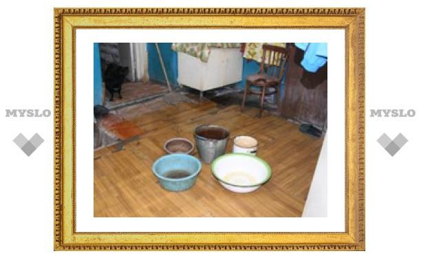 Весенний потоп в квартире туляков