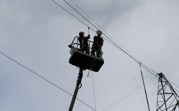 В Тульской области из-за непогоды в нескольких районах не было электричества