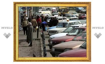 Тульские улицы будут освобождать от припаркованных вдоль них машин