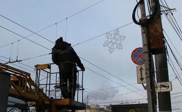 Тулу украсят 1200 новогодних снежинок