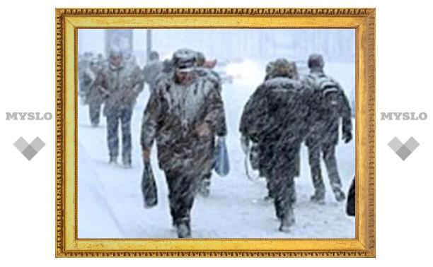 На Тулу надвигается снегопад и метель