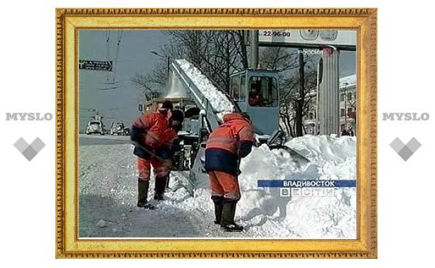 Владивосток оказался парализован из-за снегопада