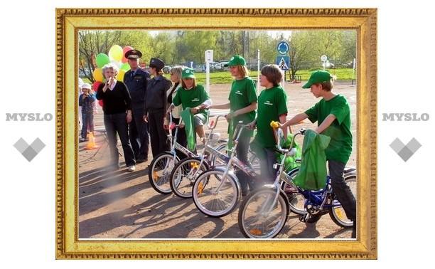 Ясногорские школьники прошли испытания «Безопасного колеса»