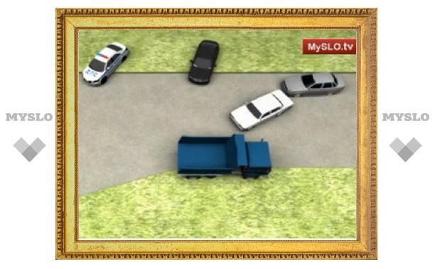 Замначальника тульской полиции описал аварию с участием губернатора Груздева
