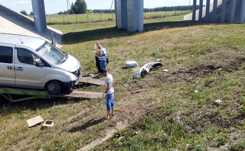 В Тульской области минивэн вылетел в кювет: пострадали двое