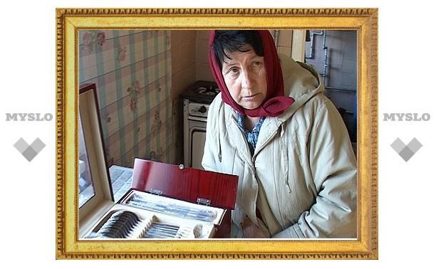 Мошенники продали тулячке столовые приборы за 62 тысячи рублей