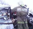 В Тульской области легковой автомобиль столкнулся с грузовиком
