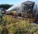 В Чернском районе сгорел комбайн