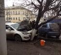 Напротив здания УГИБДД столкнулись Opel и Daewoo Matiz