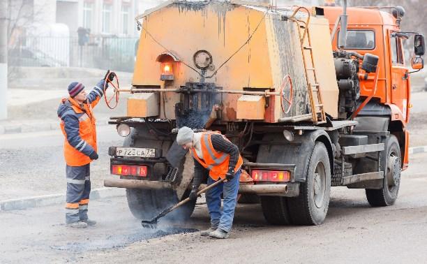 На этой неделе дорожники залатают ямы на шести тульских улицах