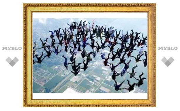 Скайдайверы поставили мировой рекорд в небе над Иллинойсом