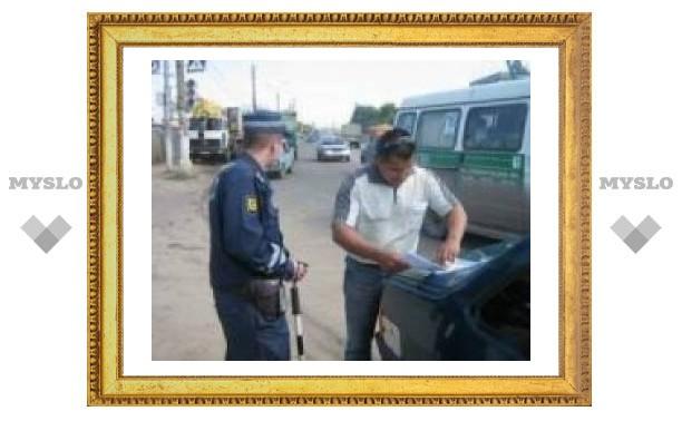 Тульских водителей проверяют на знание ПДД