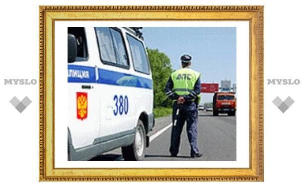 В Тульской области расстреляли машину пьяного водителя