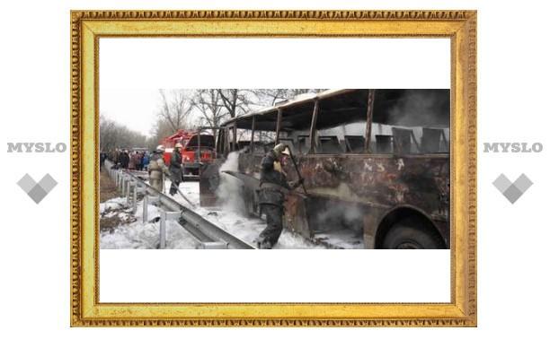 В пятницу, 13-го под Тулой сгорел автобус