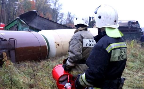 Крушение поезда в Тульской области: видео с места происшествия