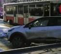 На ул. Марата в Туле из-за ДТП встали трамваи