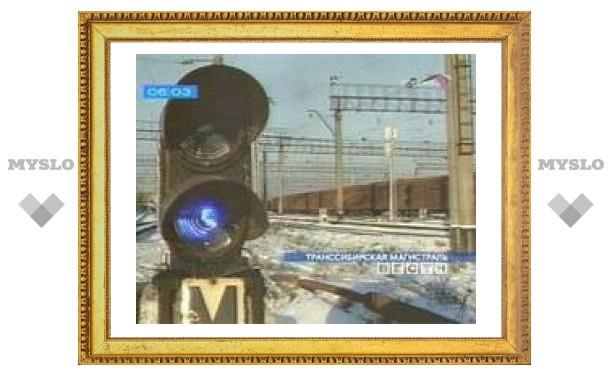 Столкновение поезда с грузовиком блокировало Транссиб