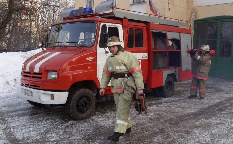 В Дворяниново добровольная пожарная команда прибыла первой на пожар