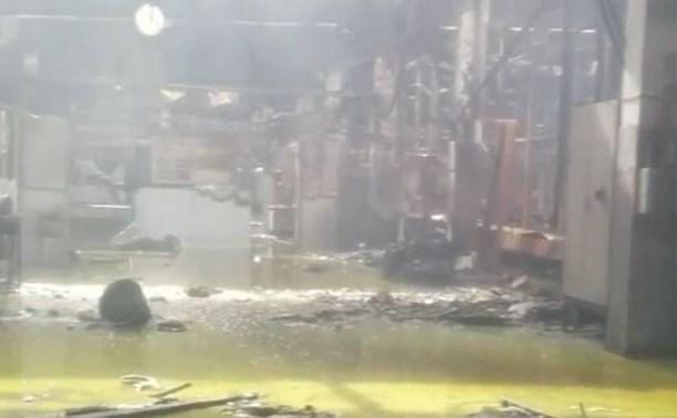 Цех «Туламашзавода» после пожара засняли на видео