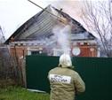 В Алексине сгорел жилой кирпичный дом