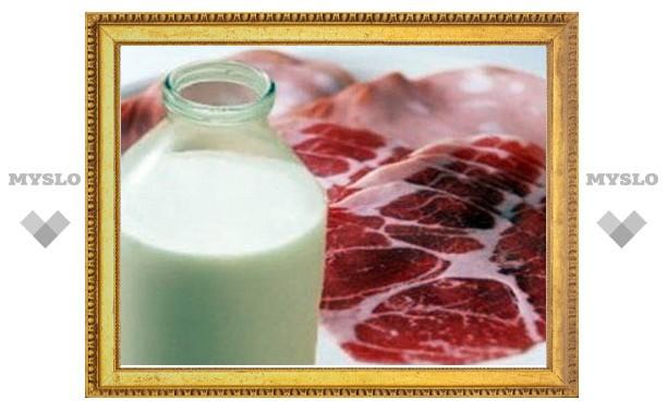 Объемы мясного и молочного производства в Туле увеличиваются