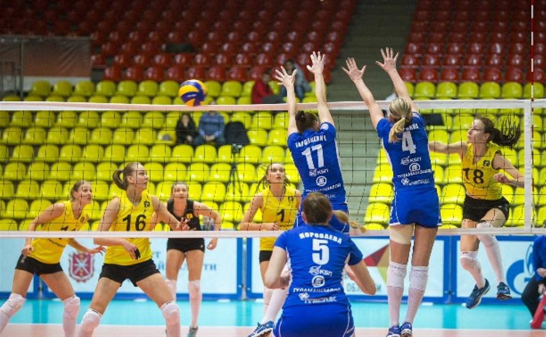 Тульские волейболистки сыграют против команд Суперлиги