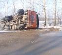 На дороге «Тула-Белев» перевернулся КамАЗ