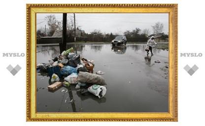 В Туле затопило Пролетарский район