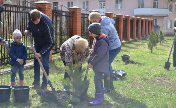 В Новомосковске высадили «Лес Победы»