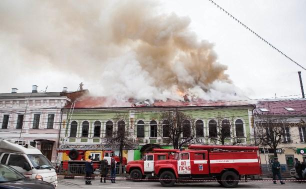 Стала известна возможная причина крупного пожара в тульской «Беларусь мебели»