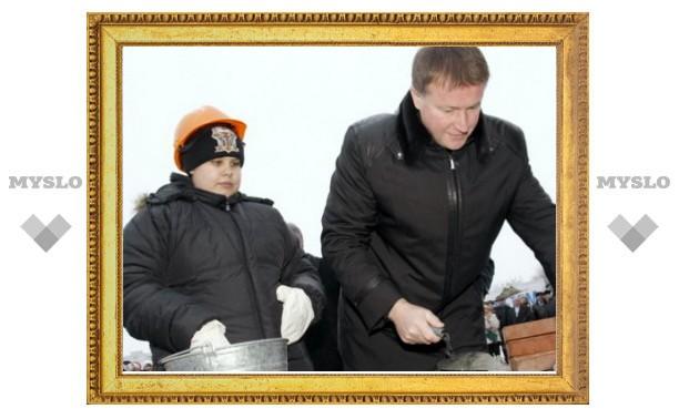 Губернатор заложил «первый камень» будущего гимнастического центра