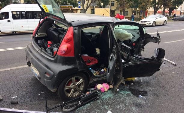 Массовое ДТП в центре Тулы: четверо пострадали