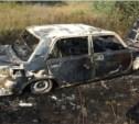Под Волово слетел в кювет и сгорел автомобиль