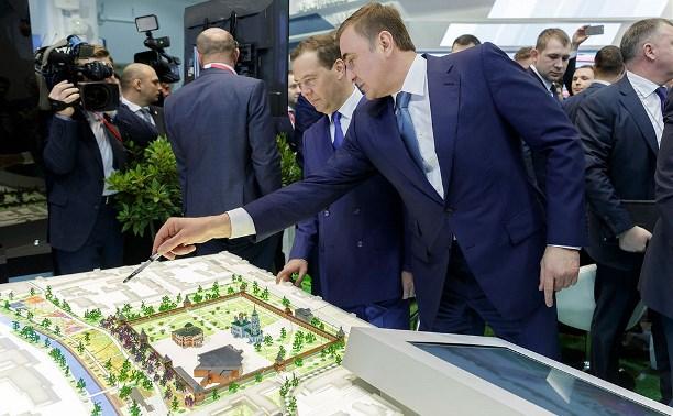 Алексей Дюмин рассказал Дмитрию Медведеву о проекте «Тульская набережная»