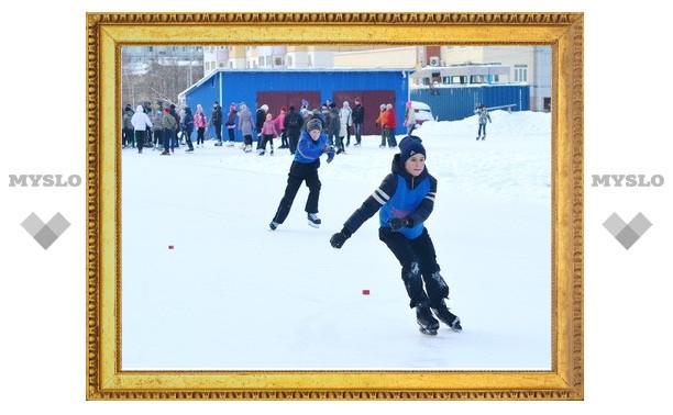 """Юные тульские конькобежцы вышли на """"Лед надежды"""""""