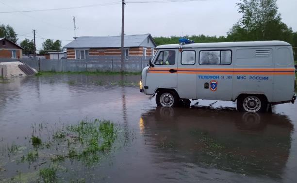 Река вышла из берегов и затопила огороды в Дедилово Тульской области